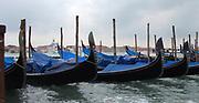 Gondolas Anchored to a Pier 2013.