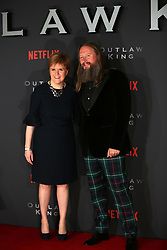 Director David Mackenzie with Scottish First Minister Nicola Sturgeon at the Scottish premiere of Outlaw King at the Vue Omni in Edinburgh.