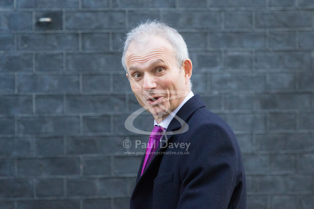 Downing Street, London, March 21st 2017. Leader of the House of Commons David Lidington attends the weekly cabinet meeting at 10 Downing Street.