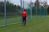 Photo: Javier Garcia/Back Page Images Mobile +447887 794393<br />Arsenal FC UEFA Champions League Training, London Colney, 06/12/04<br />Jens Lehmann leaves training early ahead of his colleagues