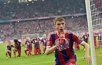 Fotball<br /> Tyskland<br /> 21.04.2015<br /> Foto: Witters/Digitalsport<br /> NORWAY ONLY<br /> <br /> Schlussjubel Thomas Mueller (Bayern)<br /> <br /> Fussball, Champions League, Viertelfinale Rueckspiel, FC Bayern München - FC Porto