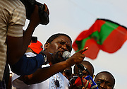 Isaías Samakuva, president of the National Union for Total Independence of Angola, during a rally to contest National Elections Comission (CNE) held at the Independence Squares in Luanda at 25 August 2012. The elections will take place at 31 August
