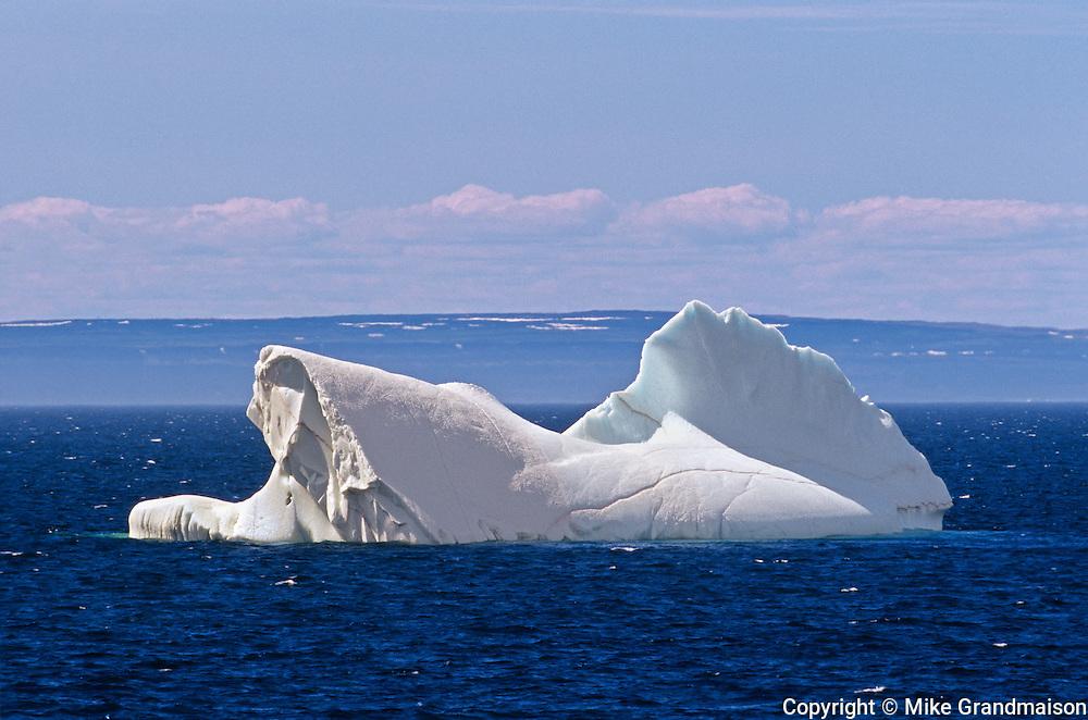 Iceberg in Atlantic Ocean<br /> near Griquet<br /> Newfoundland<br /> Canada