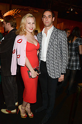 MAXIM CREWE and his wife CHARLOTTE DELLAL at the Vogue Pop Up Club at Westfield London to celebrate Westfield London's 5th birthday on 30th October 2013.
