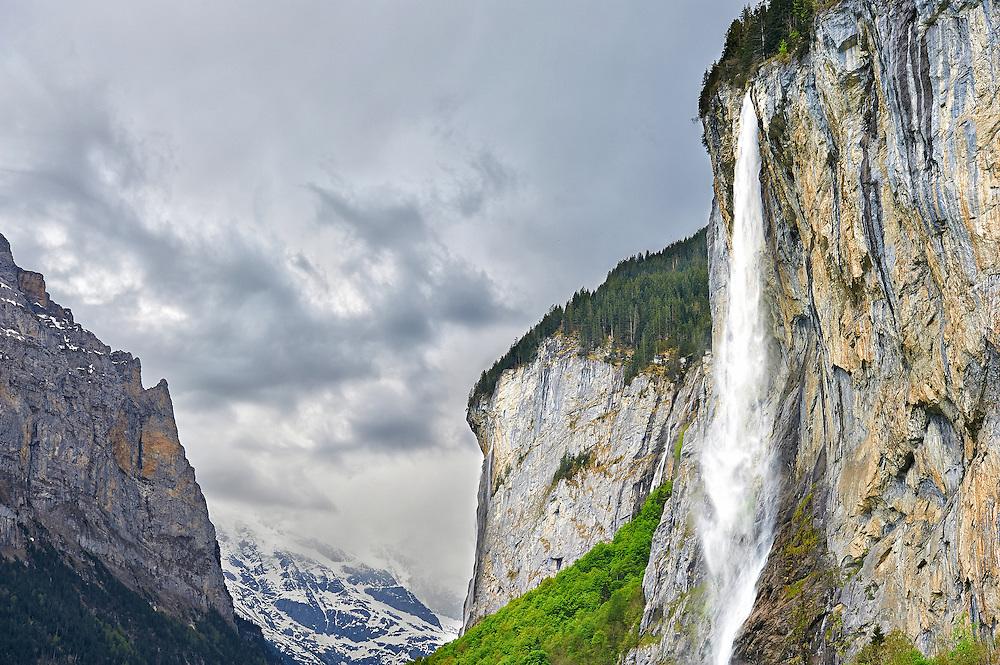 Switzerland - Staubbach Falls in Lauterbrunnen Valley