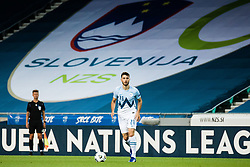 Amedej Vetrih of Slovenia during the UEFA Nations League C Group 3 match between Slovenia and Moldova at Stadion Stozice, on September 6th, 2020. Photo by Grega Valancic / Sportida