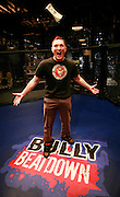 Still photography of Mark Burnett Productions February 2009 filming of the Mixed Martial Arts reality fight show, Bully Beat Down, with MMA fighter and host, Jason Mayhem Miller. The show airs on MTV. Photos by Colin Braley