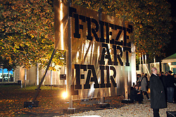 The opening of Frieze Art Fair 2007 held in regent's Park, London on 10th October 2007.<br />