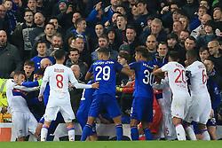 19th October 2017 - UEFA Europa League - Group E - Everton v Olympique Lyonnais - Players clash - Photo: Simon Stacpoole / Offside.