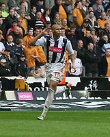 Photo: Mark Stephenson.<br /> Wolverhampton Wanderers v West Bromwich Albion. Coca Cola Championship. Play off Semi Final, 1st Leg. 13/05/2007.West Brom's Diomansy Kamara celebrates there winning goal