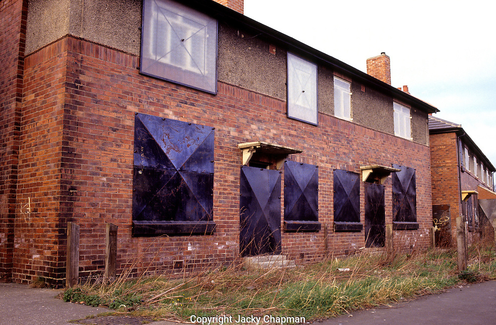 Derelict building in North Shields in North Tyneside Northern England