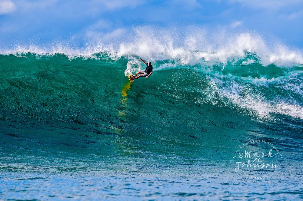 Kauai, Hawaii, USA --- Tow-in Surfing, Kauai, Hawaii ****Model Release available