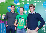 NO FEE PICTURES<br /> 28/1/16 A member of the public gets his picture taken with the O'Donovan brothers Gary and Paul at the Holiday World Show 2017 at the RDS Simmonscourt in Dublin. Picture: Arthur Carron