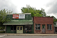 The old Massy's Grocery Store on the main street in Menlo, Georgia.