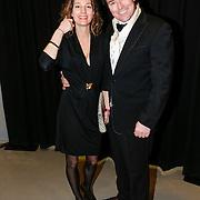 NLD/Amsterdam/20130214 - Premiere musical Peter Pan, Casper Burgi en partner Barbara