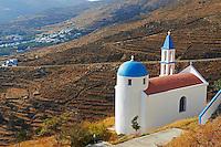 Grece, Cyclades, ile de Tinos, eglise pres de Aetofolia // Greece, Cyclades islands, Tinos, Church near Aetofolia