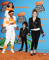 The 31st Annual Nickelodeon Kids' Choice Awards at The Forum in Inglewood, California on 3/24/18. 24 Mar 2018 Pictured: Mariah Carey, Nick Cannon, Moroccan Scott Cannon, Monroe Cannon. Photo credit: River / MEGA TheMegaAgency.com +1 888 505 6342
