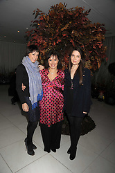 ARLENE PHILLIPS and her daughters, left, ALANA and right ABI at a reception before the launch of the English National Ballet Christmas season launch of The Nutcracker held at the St,Martins Lane Hotel, London on 5th December 2008.