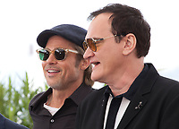 Brad Pitt, Director Quentin Tarantino, at Once Upon A Time... In Holywood film photo call at the 72nd Cannes Film Festival, Wednesday 22nd May 2019, Cannes, France. Photo credit: Doreen Kennedy