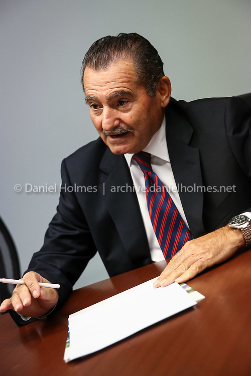 (10/6/15, FRAMINGHAM, MA) Ameresco CEO, George Sakellaris talks about business at Ameresco's corporate headquarters in Framingham on Tuesday. Daily News and Wicked Local Photo/Dan Holmes