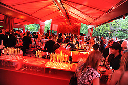 Atmosphere at the annual Serpentine Gallery Summer party this year sponsored by Jaguar held at the Serpentine Gallery, Kensington Gardens, London on 8th July 2010.  2010 marks the 40th anniversary of the Serpentine Gallery and the 10th Pavilion.