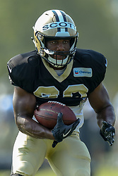 July 28, 2018 - Metairie, LA, U.S. - METAIRIE, LA. - JULY 28:  New Orleans Saints running back Boston Scott (30) runs through a drill during New Orleans Saints training camp practice on July 28, 2018 at the Ochsner Sports Performance Center in New Orleans, LA.  (Photo by Stephen Lew/Icon Sportswire) (Credit Image: © Stephen Lew/Icon SMI via ZUMA Press)
