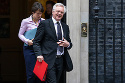 © Licensed to London News Pictures. 12/06/2018. London, UK. Secretary of State for Exiting the European Union David Davis leaves 10 Downing Street after the Cabinet meeting. Photo credit: Rob Pinney/LNP
