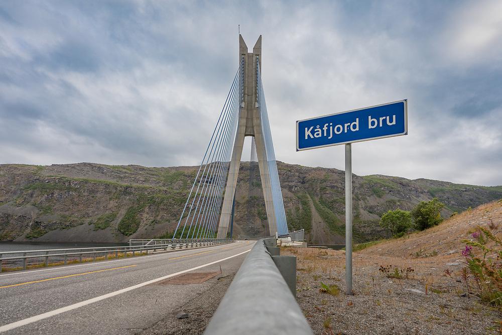 Kåfjordbrua er en skråstagbru over Kåfjord i Alta, Troms og Finnmark. Total brulengde er 169,5, fri seilingshøyde er 9,0 meter.
