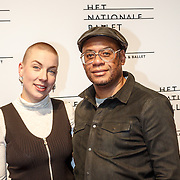 NLD/Amsterdam/20160206 - Premiere balletvorstelling Mata Hari, Howard Komproe en partner Fien Ploeger