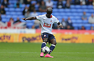 Bolton Wanderers defender Prince-Desire Gouano shoots during the Sky Bet Championship match between Bolton Wanderers and Brighton and Hove Albion at the Macron Stadium, Bolton, England on 26 September 2015.