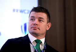 Brian O'Driscoll during the 2023 Rugby World Cup host union announcement at The Royal Garden Hotel, Kensington.