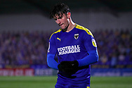 AFC Wimbledon attacker Ryan Longman (29) walking off pitch after being subbed during the EFL Sky Bet League 1 match between AFC Wimbledon and Peterborough United at Plough Lane, London, United Kingdom on 2 December 2020.
