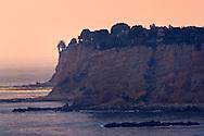 Coastal cliffs at sunset, Point Vicente, Palos Verdes Peninsula, California