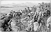 Relief of Ladysmith - the last rush at Hlangwane Hill. 2nd Boer War 1899-1902