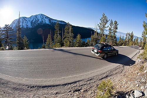 Highway 89 above Emerald Bay. Lake Tahoe, CA<br />