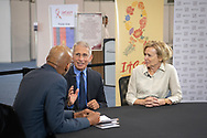10th IAS Conference on HIV Science (IAS 2019), Mexico City, Mexico.<br /> <br /> Photo shows Tony Fauci, Director of the National Institute of Allergy and Infectious Diseases at the National Institutes of Health, United States, and Dr Deborah Birx, ambassador-at-large and US global Aids coordinator, being interviewed.<br /> <br /> Photo ©International AIDS Society/Steve Forrest/Workers' Photos