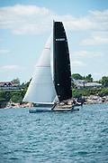 M32 class racing Around the Island in Newport, Rhode Island, as part of the New York Yacht Club Annual Regatta 2016