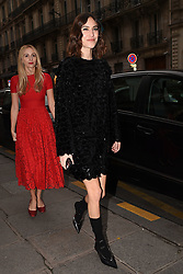 Alexa Chung arrive at Vogue Party. Paris, France on March 3rd, 2019. Clement Prioli/Abaca Press