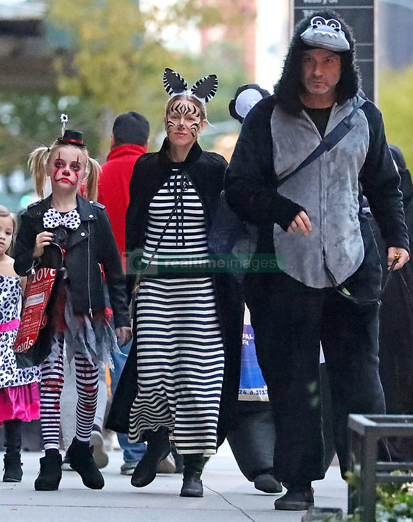 Naomi Watts and Liev Schreiber take their sons Sasha and Samuel Trick or Treating for Halloween, NYC. 31 Oct 2018 Pictured: Naomi Watts, Liev Schreiber, Samuel Kai Schreiber and Sasha Schreiber. Photo credit: MEGA TheMegaAgency.com +1 888 505 6342