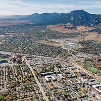 Boulder Colorado Aerial Photography, Stock Aerial Photography of Boulder, CO