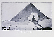 The Sphinx And The Pyramids From the Book '  Britain across the seas : Africa : a history and description of the British Empire in Africa ' by Johnston, Harry Hamilton, Sir, 1858-1927 Published in 1910 in London by National Society's Depository