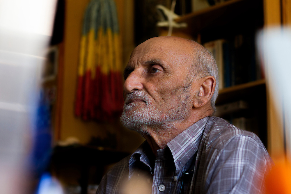 Renowned Maltese ornithologist Joe Sultana in his home office/library. Sultana is an expert on the birds of Malta and a life-long conservationist