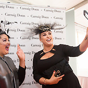 08.10.17.            <br /> Pictured at Limerick Racecourse for the Keanes Most Stylish Lady competition, left to right, Second prize, Nadine Smith, Abbeyfeale, Co. Limerick and Judge Sinead O'Brien. Picture: Alan Place