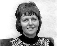 Ruth Patterson, Larne, N Ireland, UK, who is studying for the Presbyterian Ministry, October, 1975. The following year she became the first woman to be ordained into the Presbyterian Church in Ireland. 197510050682a<br />