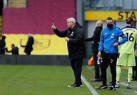 Football - 2020 / 2021 Premier League - Burnley vs. Newcastle United<br /> <br /> A smiling Newcastle United manager Steve Bruce on the touchline, at Turf Moor.<br /> <br /> <br /> COLORSPORT/ALAN MARTIN