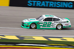 March 1, 2019 - Las Vegas, NV, U.S. - LAS VEGAS, NV - MARCH 01: Austin Cindric (22) Team Penske Ford Mustang during practice for the Boyd Gaming NASCAR Xfinity Series race on March 01, 2019, at the Las Vegas Motor Speedway in Las Vegas, Nevada (Photo by Matthew Bolt/Icon Sportswire) (Credit Image: © Matthew Bolt/Icon SMI via ZUMA Press)