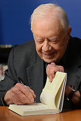 March 26, 2018 - New York, NY, USA - March 26, 2018  New York City..Former President of the USA, Jimmy Carter, signs copies of his new book 'Faith: A Journey For All' at Barnes & Noble Fifth Avenue on March 26, 2018 in New York City. (Credit Image: © Kristin Callahan/Ace Pictures via ZUMA Press)