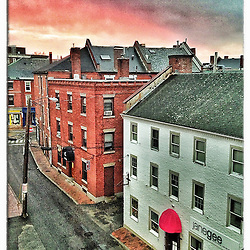"""Ladd Street in Portsmouth, New Hampshire. iPhone photo - suitable for print reproduction up to 8"""" x 12""""."""