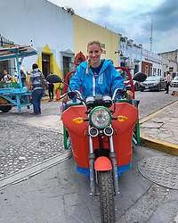 """Angelique Kerber releases a photo on Instagram with the following caption: """"That\u2018s how you get around town here \ud83d\ude02\ud83d\udef5 So nice to be back! I\u2018ve missed this place \ud83d\ude0d\ud83c\uddf2\ud83c\uddfd @abiertognpseguros"""". Photo Credit: Instagram *** No USA Distribution *** For Editorial Use Only *** Not to be Published in Books or Photo Books ***  Please note: Fees charged by the agency are for the agency's services only, and do not, nor are they intended to, convey to the user any ownership of Copyright or License in the material. The agency does not claim any ownership including but not limited to Copyright or License in the attached material. By publishing this material you expressly agree to indemnify and to hold the agency and its directors, shareholders and employees harmless from any loss, claims, damages, demands, expenses (including legal fees), or any causes of action or allegation against the agency arising out of or connected in any way with publication of the material."""