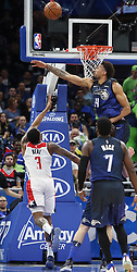 February 3, 2018 - Orlando, FL, USA - The Washington Wizards' Bradley Beal (3) scores under the Orlando Magic's Khem Birch (24) at the Amway Center in Orlando, Fla., on Saturday, Feb. 3, 2018. (Credit Image: © Stephen M. Dowell/TNS via ZUMA Wire)